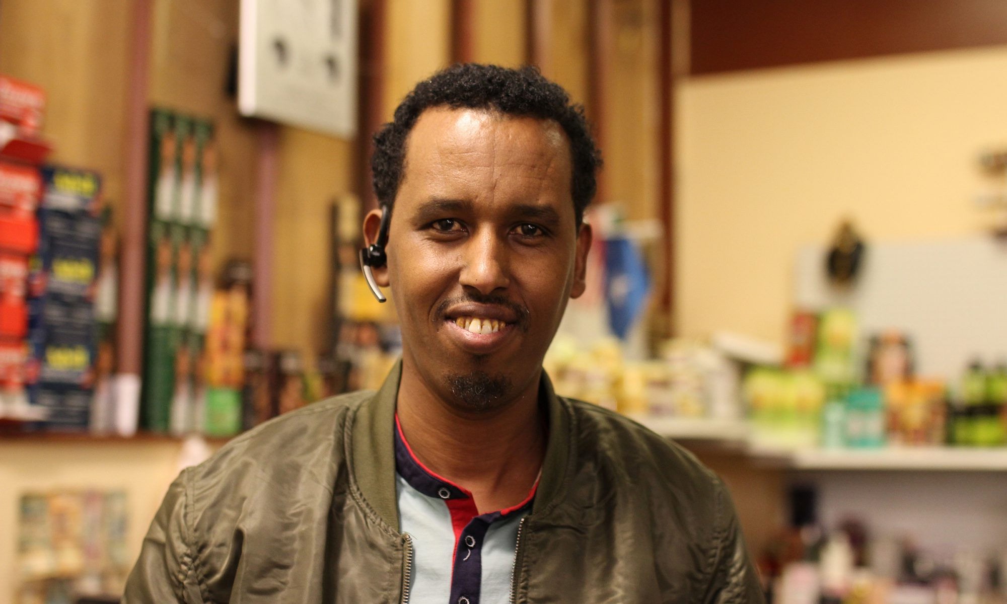 Five years ago, Abdiwahab Hade opened the Fort Morgan Mini-Halal Market. Since then, he has also opened a café and a small clothing boutique. Credit: Esther Honig/KUNC